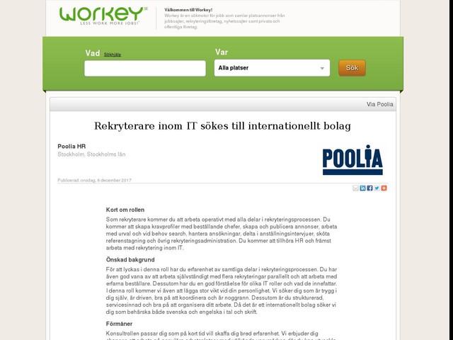 Rekryterare inom IT sökes till internationellt bolag