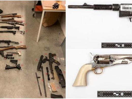 Nazist gripen med många vapen och åtalad