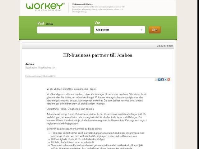 HR-business partner till Ambea