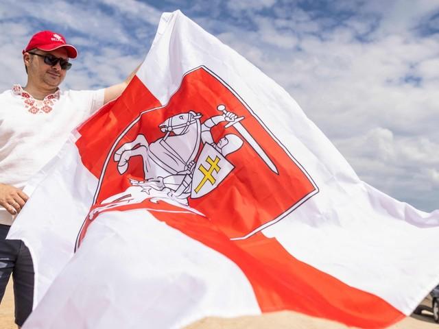 Manifestation till stöd för Belarus