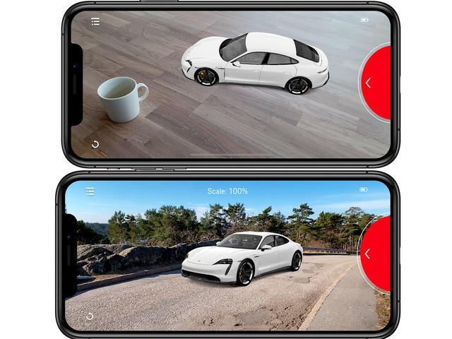 Flyttar provkörningen av senaste Porsche-modellen till hemmet med hjälp av AR