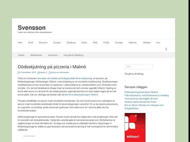 Dödsskjutning på pizzeria i Malmö
