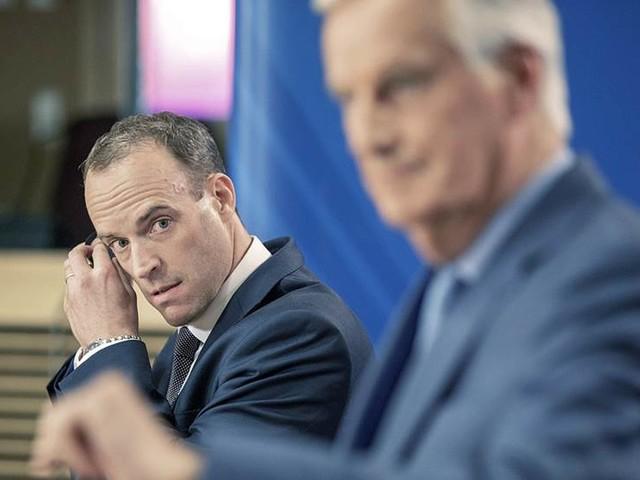 Raab vill öka tempot i Bryssel