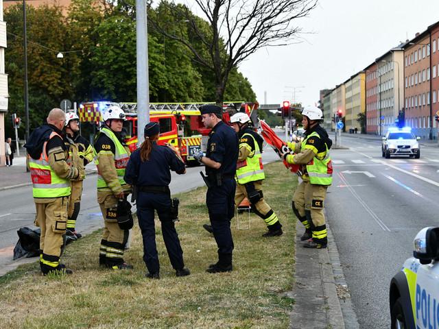 En till sjukhus efter motorcykelolycka i Malmö