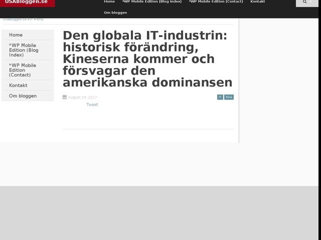 Den globala IT-industrin: historisk förändring, Kineserna kommer och försvagar den amerikanska dominansen