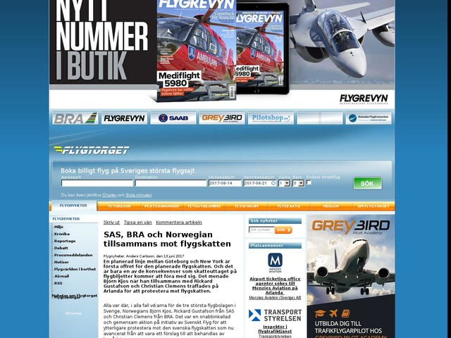 SAS, BRA och Norwegian tillsammans mot flygskatten