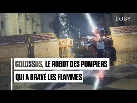 Roboten Colossus hjälpte till att släcka branden i Notre-Dame