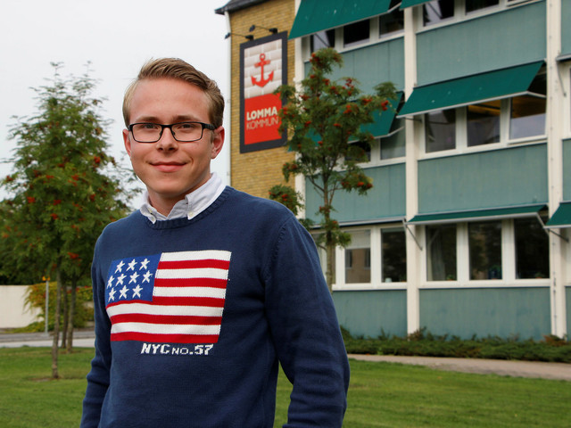 Han är ordförande i Lommas enda ungdomsförbund