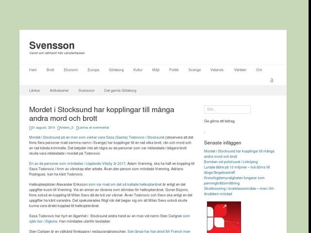 Mordet i Stocksund har kopplingar till många andra mord och brott