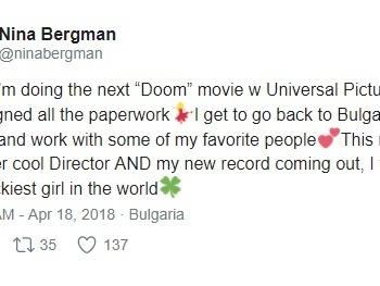 Skådespelerska avslöjar planer om ny Doom-film