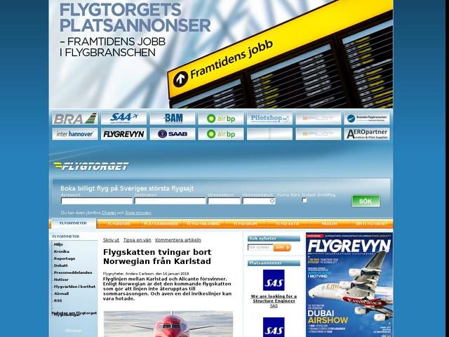 Flygskatten tvingar bort Norwegian från Karlstad
