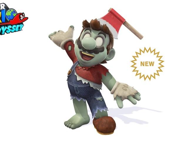 Nintendo släpper zombie-skin till Mario lagom till Halloween