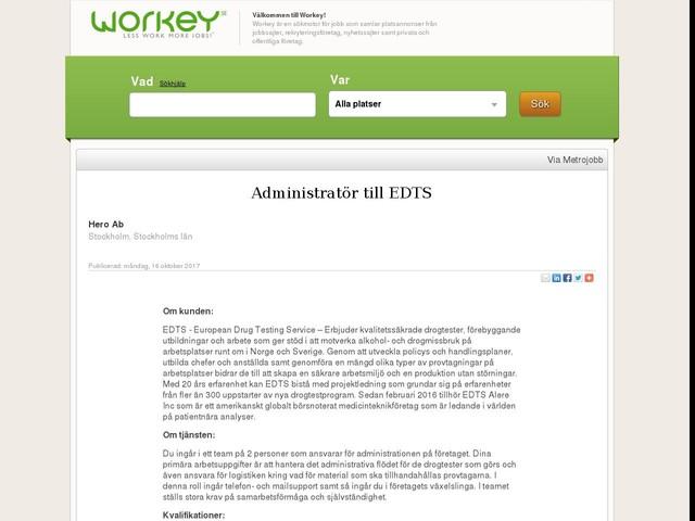 Administratör till EDTS