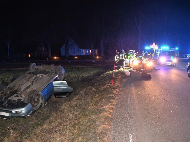 Bil voltade vid Nordanå