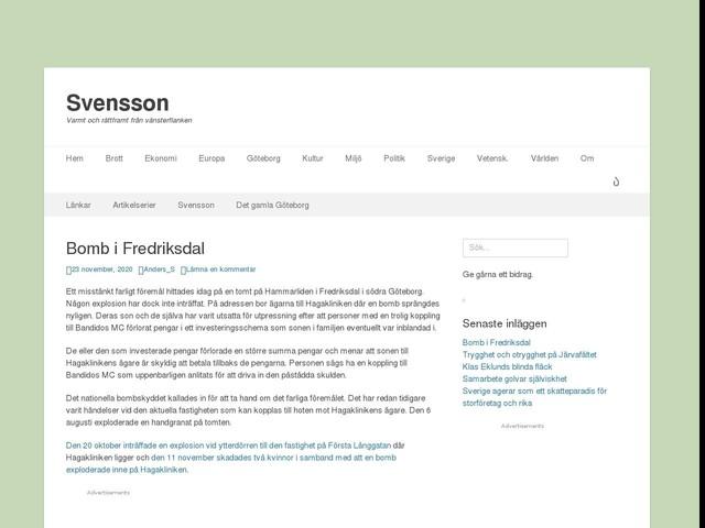 Bomb i Fredriksdal