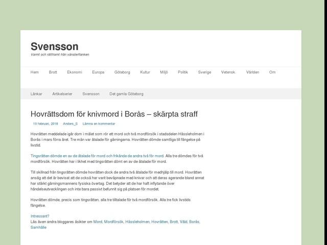 Hovrättsdom för knivmord i Borås – skärpta straff