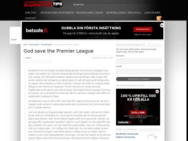 God save the Premier League