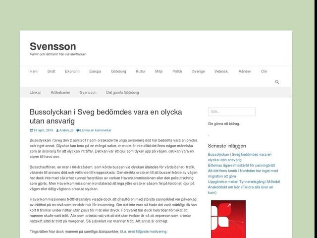 Bussolyckan i Sveg bedömdes vara en olycka utan ansvarig
