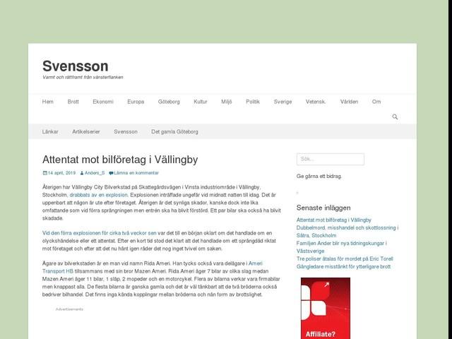 Attentat mot bilföretag i Vällingby