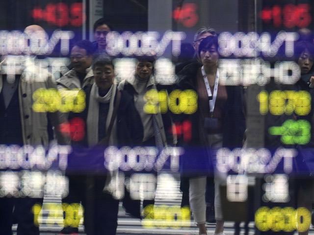Nedåt på börserna i Japan och Hongkong