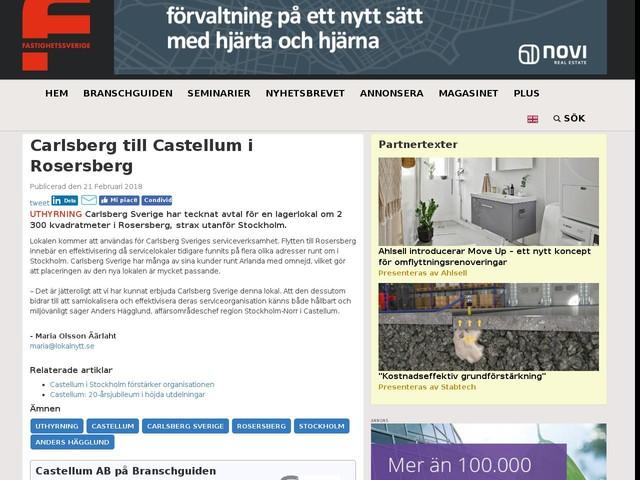 Carlsberg till Castellum i Rosersberg