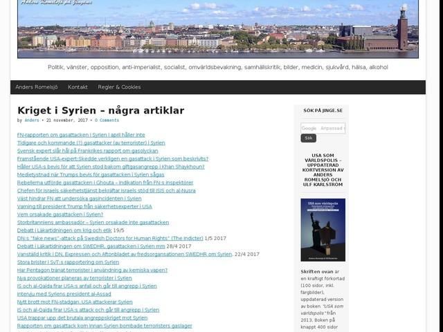 Kriget i Syrien – några artiklar