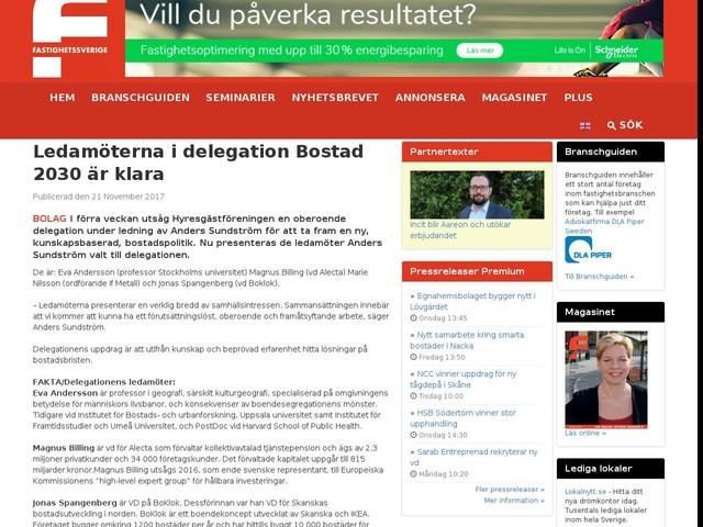 Ledamöterna i delegation Bostad 2030 är klara