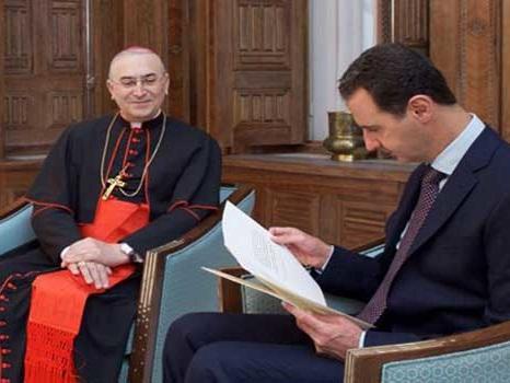 Påven uttrycker i ett budskap till president al-Assad sin djupa solidaritet med Syrien och dess folk