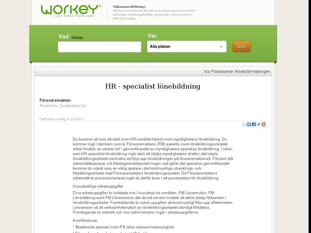 HR - specialist lönebildning