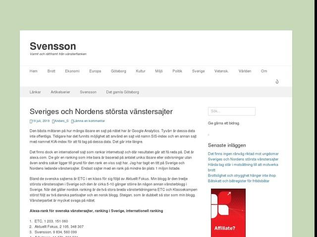 Sveriges och Nordens största vänstersajter