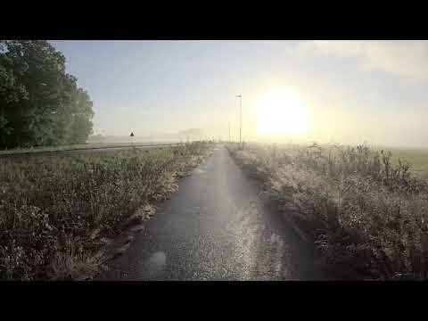 FILM: Cykeltur i vacker morgondimma