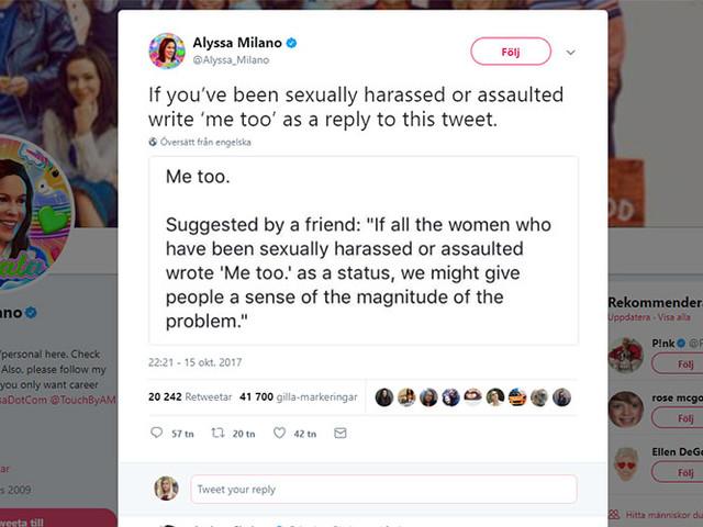 Kvinnor berättar om sexuella övergrepp under hashtaggen #metoo