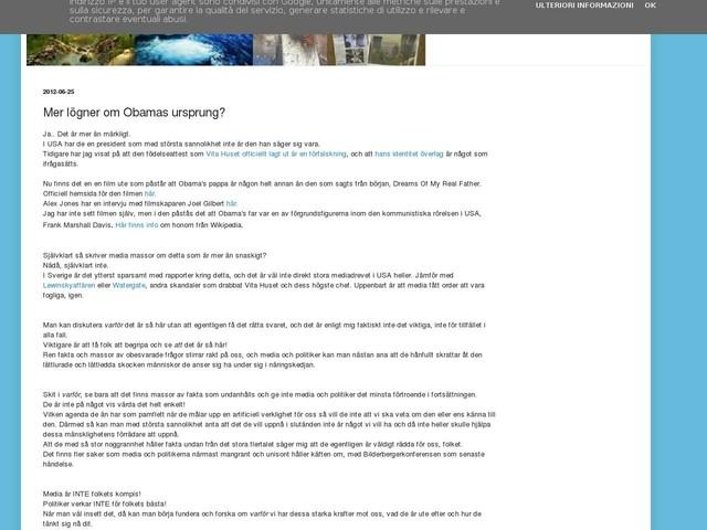Mer lögner om Obamas ursprung?