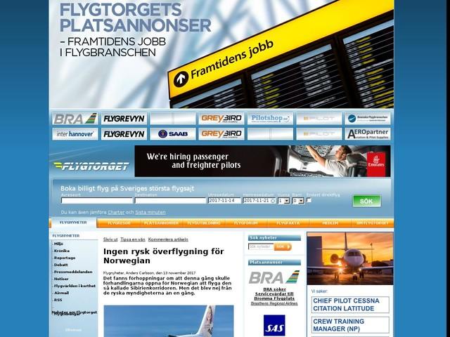 Ingen rysk överflygning för Norwegian