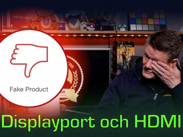Teknikstund: Välj rätt bildskärmskabel för Displayport och HDMI