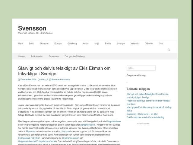 Slarvigt och delvis felaktigt av Ekis Ekman om frikyrkliga i Sverige