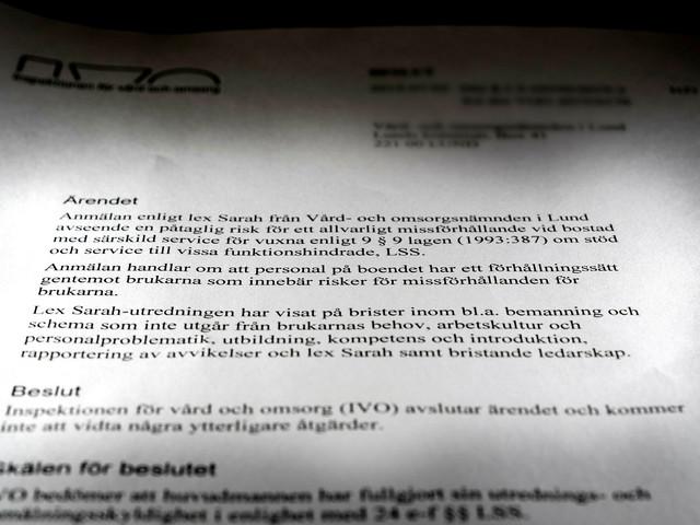 "Hård kritik mot LSS-boende i Lund: ""Brist på empati bland personalen"""