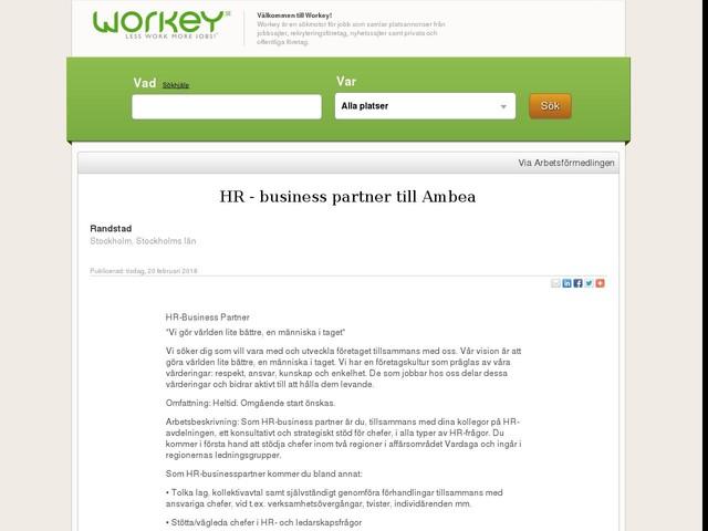 HR - business partner till Ambea