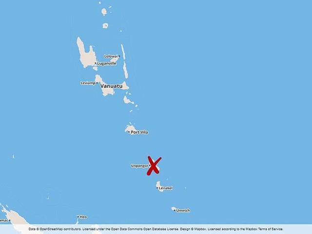 Jordskalv i ögruppen Vanuatu