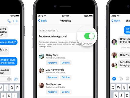 Facebook lägger till adminfunktioner i Messenger