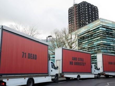 3 Billboards outside Grenfell, London