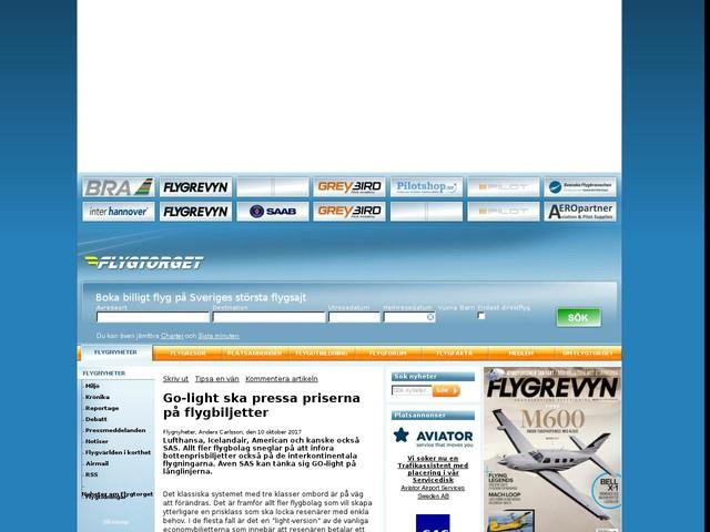 Go-light ska pressa priserna på flygbiljetter