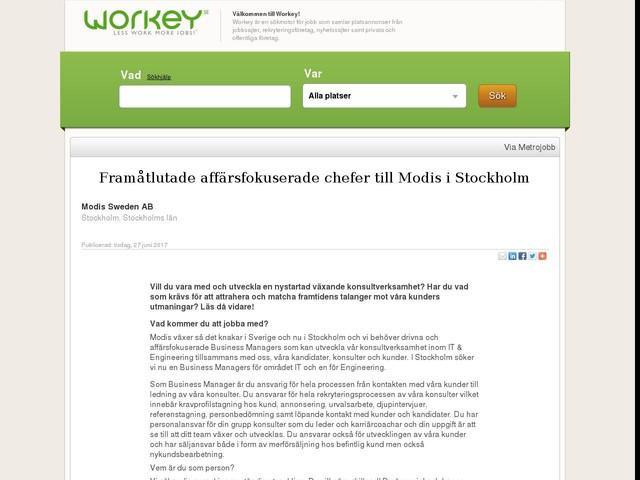 Framåtlutade affärsfokuserade chefer till Modis i Stockholm