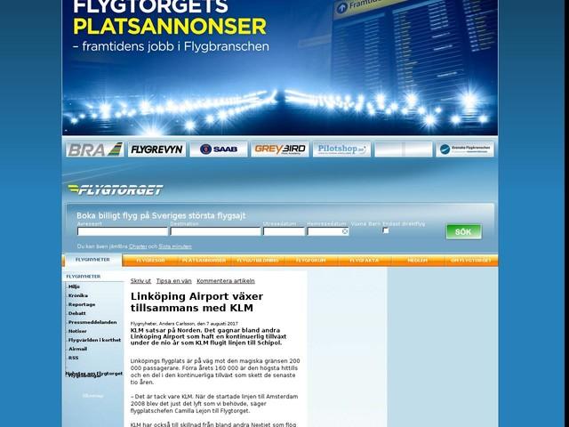 Linköping Airport växer tillsammans med KLM