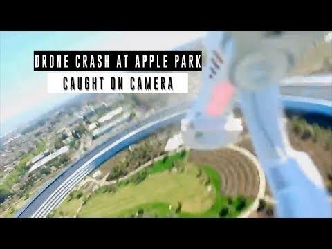 Drönare kraschlandade på Apple Park