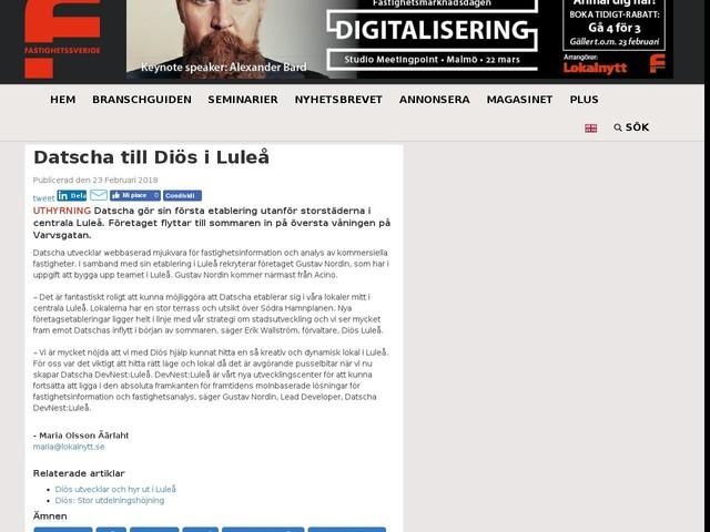 Datscha till Diös i Luleå