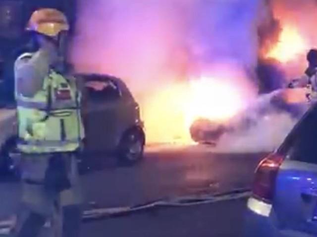 Bilbrand på Söderkulla släckt