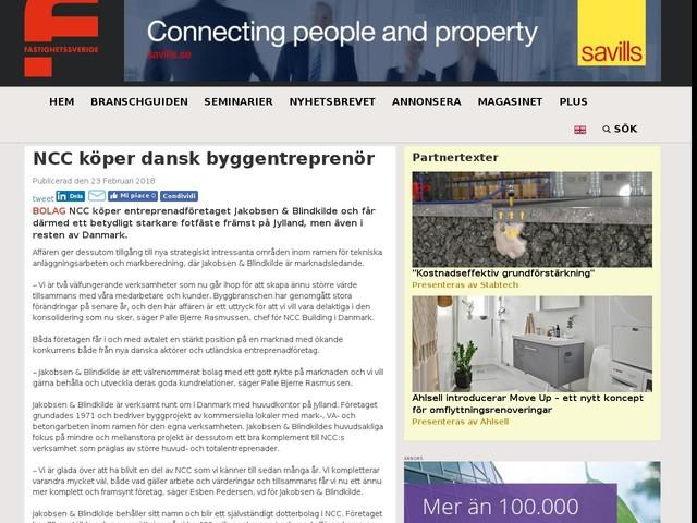 NCC köper dansk byggentreprenör