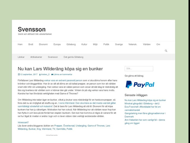 Nu kan Lars Wilderäng köpa sig en bunker
