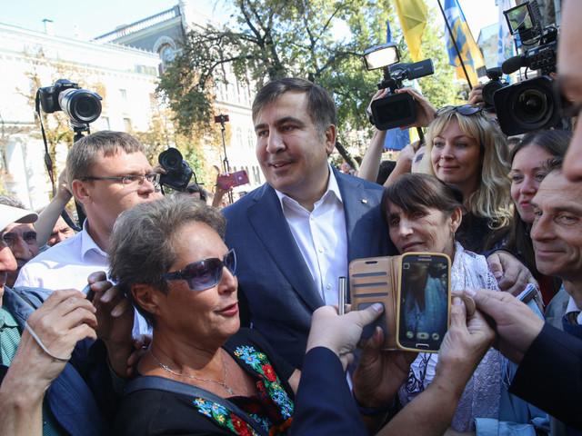 Saakashvili kom till Kiev! – Tre korruptionspresidenter och korruptionsdömd riksåklagare bråkar.